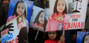 Zainab Ansari protestors