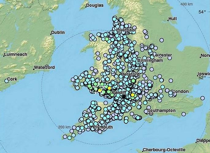 Earthquake hits Parts of United Kingdom