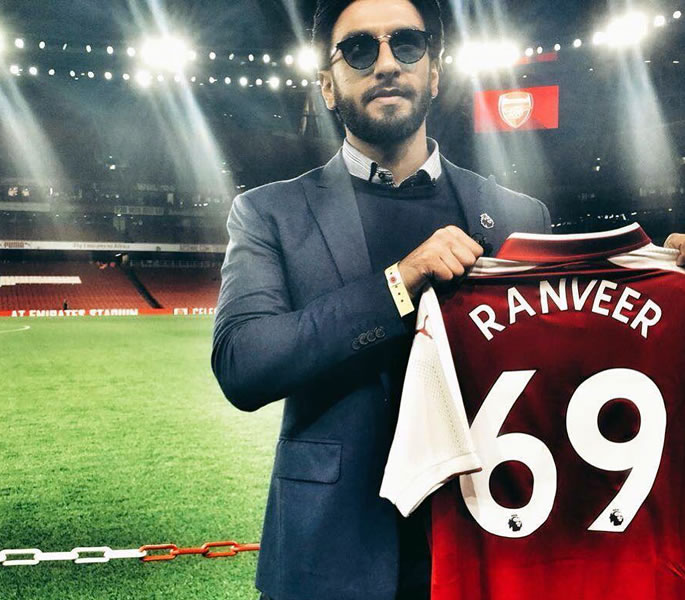 Ranveer Singh reveals Arsenal Love at India's Premier League Event