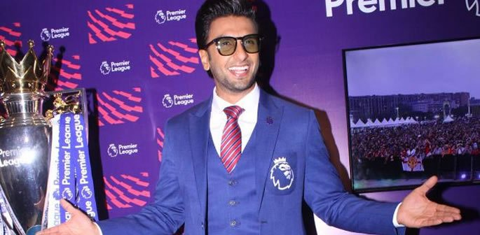 Ranveer Singh reveals Arsenal Love at India's Premier League Event