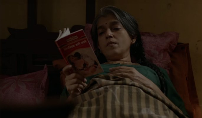 Ratna Pathak Shah in a still from Lipstick Under my Burkha. The film spoke heavily about a woman's right to feel pleasure