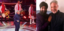 Johnny Kalsi plays Dhol for Tom Jones at Queen's 92nd Birthday Party