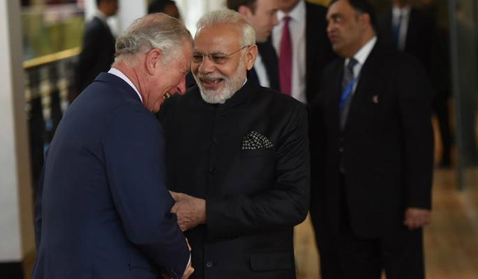 Narendra Modi with Prince Charles
