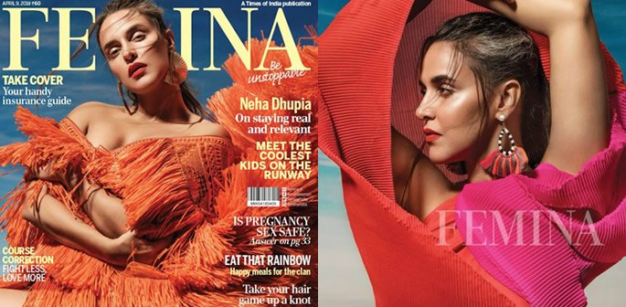 Neha Dhupia scorches in Shades of Red for Femina Photoshoot