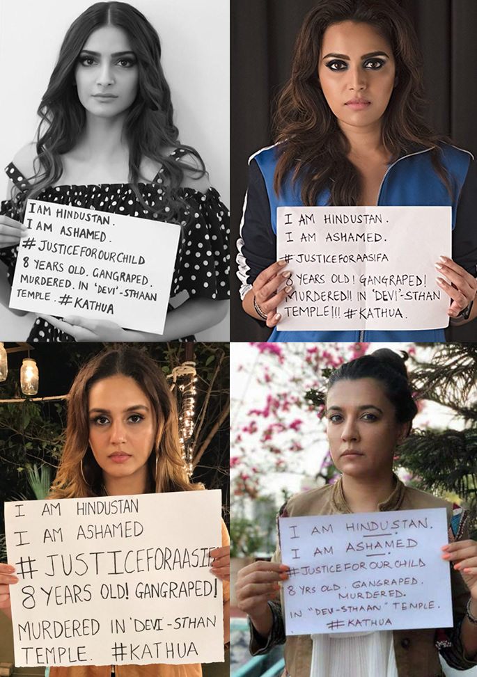 asifa bollywood protesters