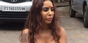 sri reddy topless protest