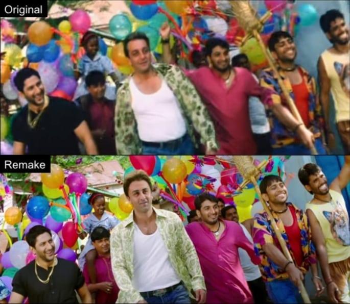 Ranbir Kapoor and Sanjay Dutt Munna Bhai