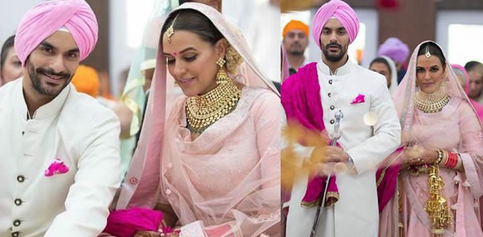Neha Dhupia marries Angad Bedi in an Intimate Wedding
