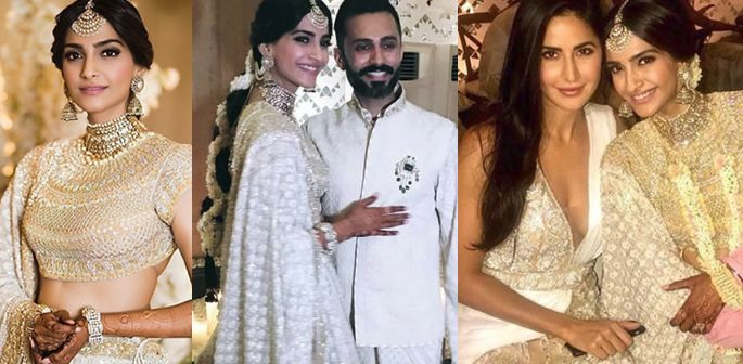 89d4a11467 Sonam and Anand party with Bollywood Stars at their Mehendi Party ...