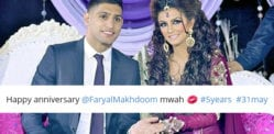 No Reply to Amir Khan wishing Faryal Happy Wedding Anniversary