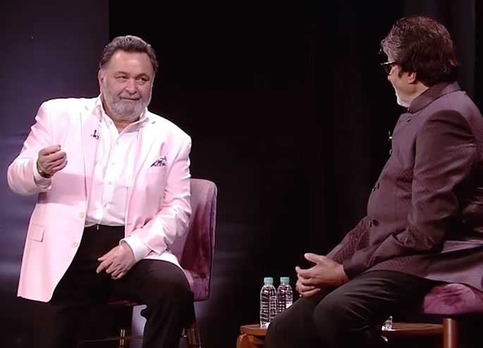 amitabh bachchan and rishi kapoor chat