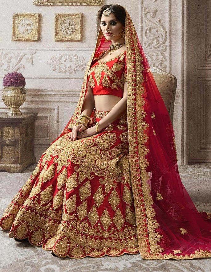 Meghan - desi bridal red lehenga