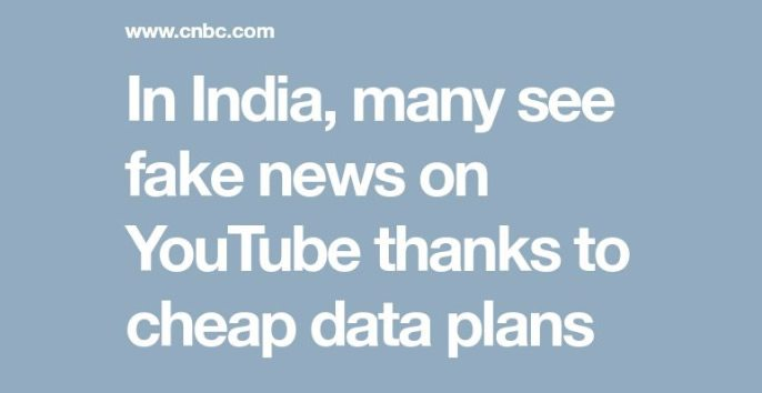 fake news in india data plans