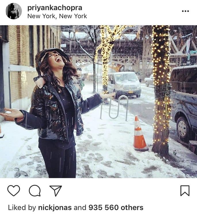priyanka chopra nick jonas snow