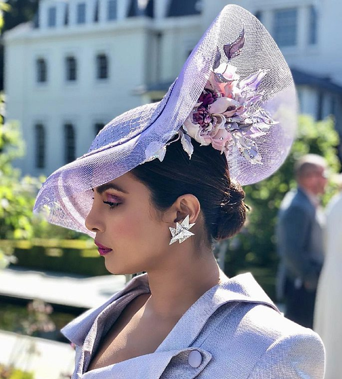 priyanka chopra wedding hat side