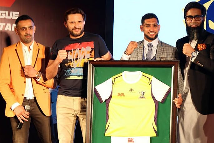 amir khan super boxing league afridi