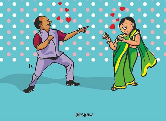 dancing uncle cartoon