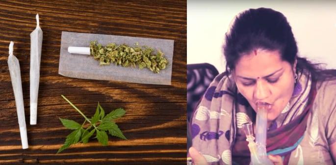 Aunties Smoking Weed