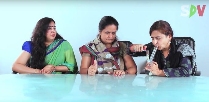 Indian Aunties Smoke Marijuana