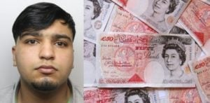 Hussain shoebox of cash from cocaine