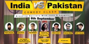 Win Tickets to India vs Pakistan Comedy Clash