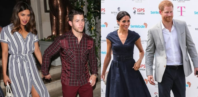 Priyanka & Nick share Engagement News with Prince Harry & Meghan