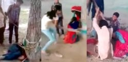 Shocking Video of Indian Woman Beaten tied to a Tree by Family
