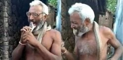 Indian Man puts Cobra Inside his Mouth as a Stunt