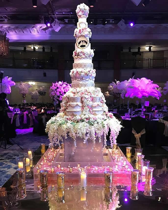 desi wedding cakes - florally beautiful