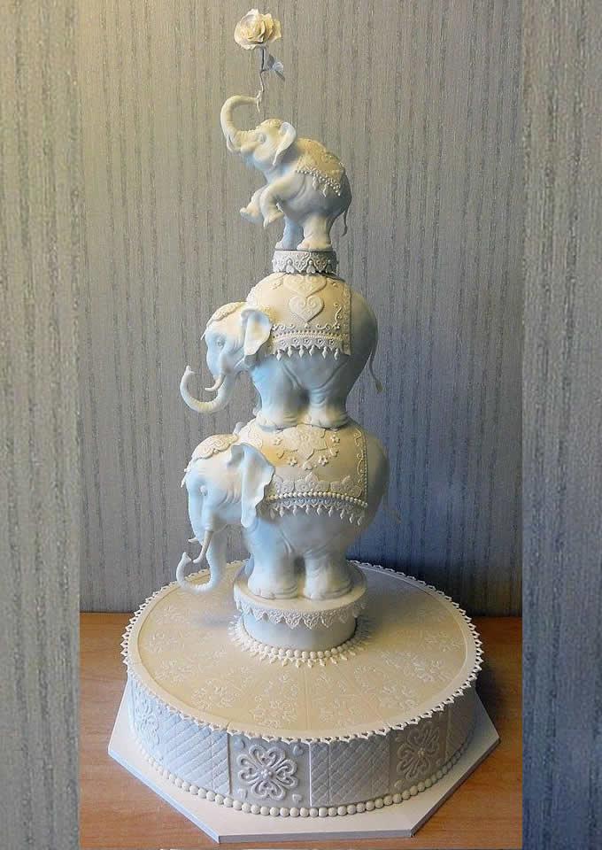 desi wedding cakes elephant cake
