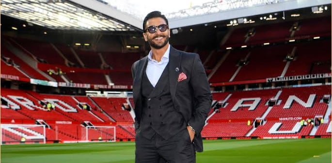 ranveer singh premier league old trafford