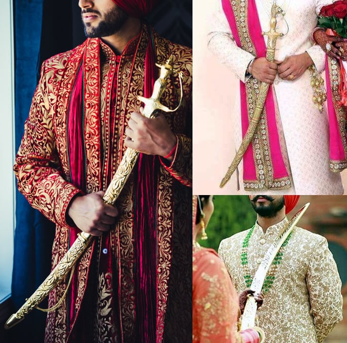 wedding sword gold