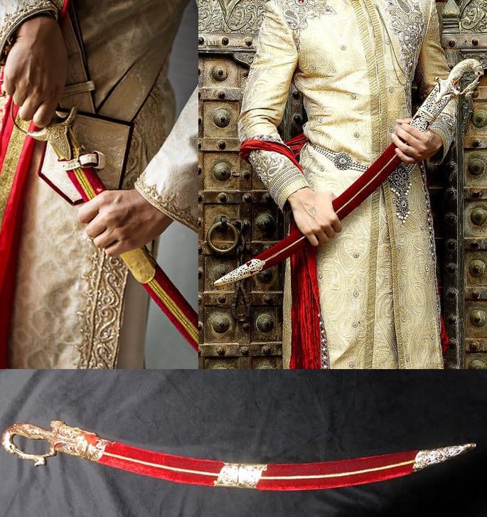 wedding sword red