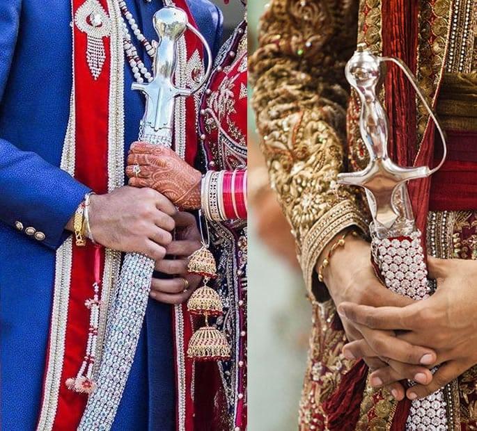 wedding sword silver jewels