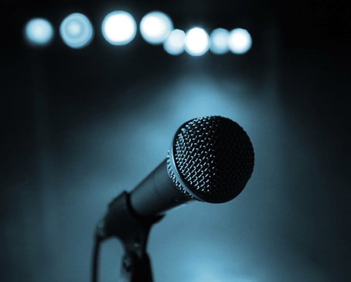 Asian female spoken word - mic