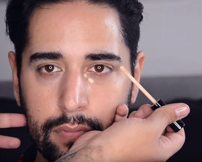 eye makeup for desi men concealer
