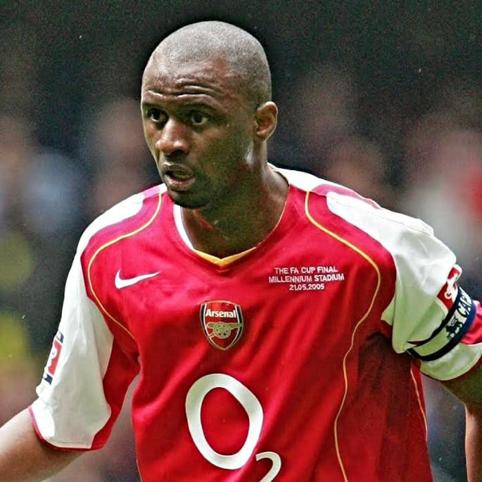 premier league players - vieira