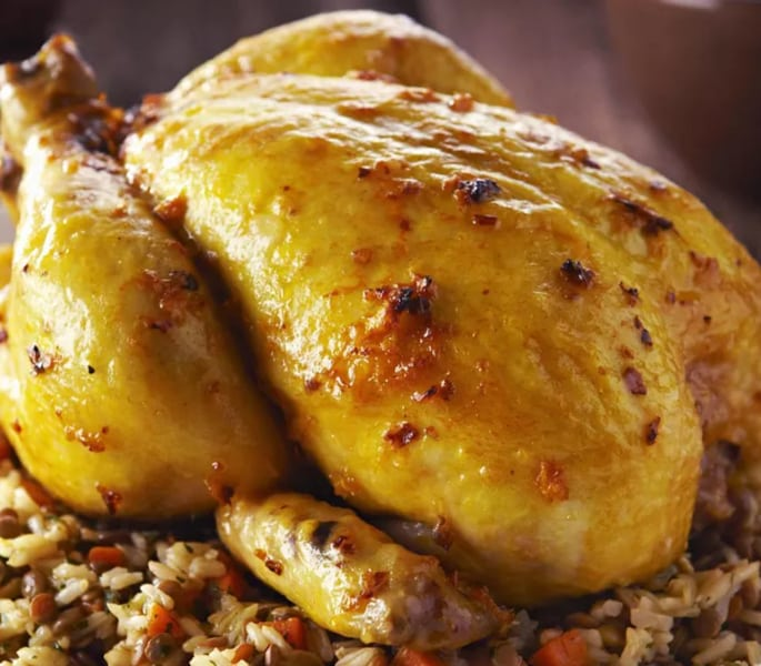 roast chicken stuffed