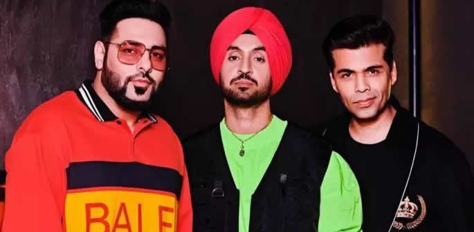 Diljit Dosanjh and Badshah to appear on Koffee with Karan 6 ft
