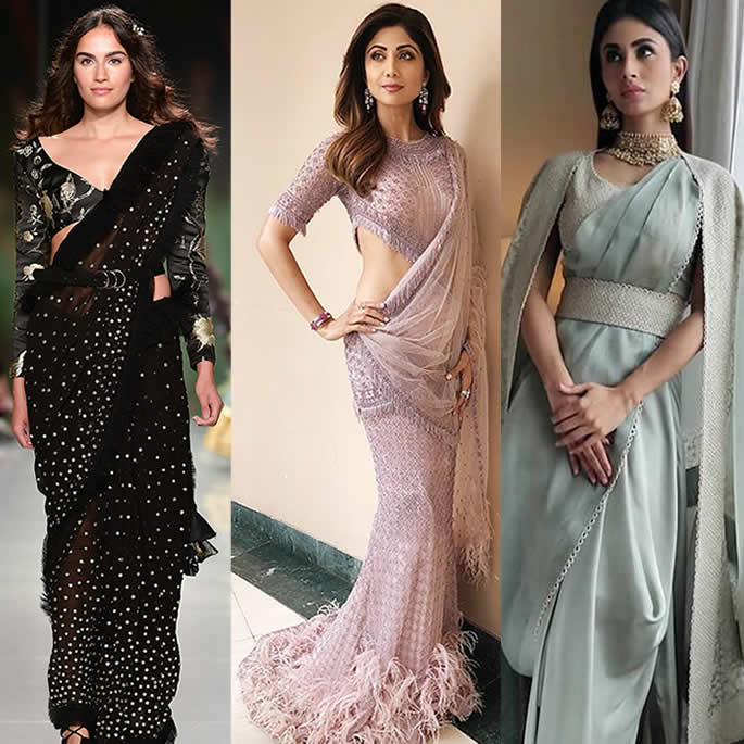 Gorgeous Saree Fashion Trends for 2019 Hybrid