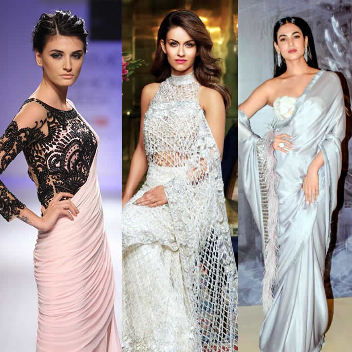 Gorgeous Saree Fashion Trends for 2019 cold shoulder