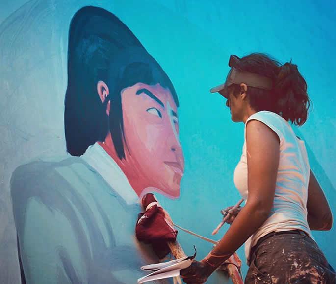 ہندوستان کے مشہور گرافٹی اور اسٹریٹ آرٹسٹ۔ انپو ورکے
