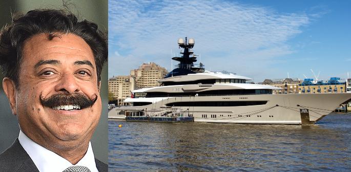Shahid Khan brings £140m Superyacht 'Kismet' to the UK f