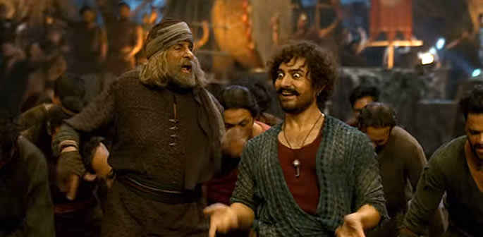 Thugs of Hindostan Amitabh and Aamir Dance to Vashmalle f