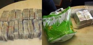 Due uomini condannati per riciclaggio di £ 200 in borse della spesa f