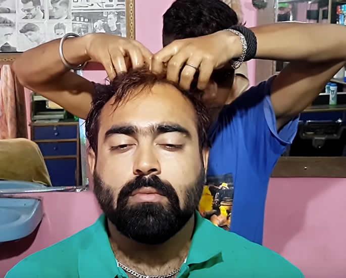 asmr videos indian accent - hair massage