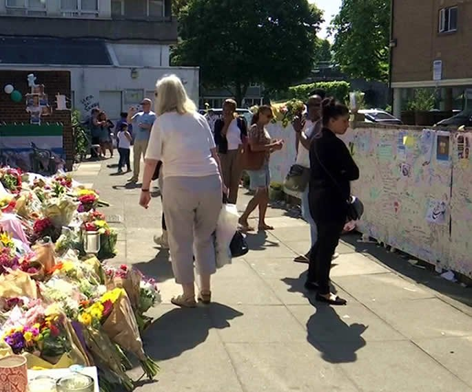 grenfell tower people tributes