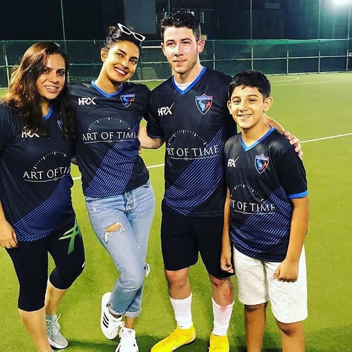 priyanka chopra nick football friends
