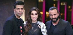 Saif Ali Khan & Sara Ali Khan film for Koffee with Karan 6