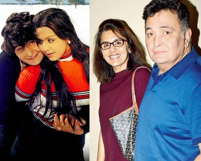 10 Real Life Bollywood Couples Who were On Screen Jodis - rishi neetu10 Real Life Bollywood Couples Who were On Screen Jodis - rishi neetu
